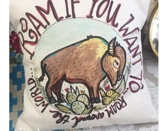 Roam If You Want To Buffalo Pillow