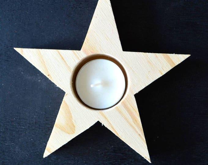 Christmas star candle holder