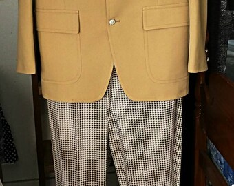 Vintage Checkered 50's suit