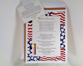 MILITARY VETERAN GIFT Patriotic Tribute uSA Art Print Homage Poem Memorial Stars and Stripes Red White Blue American Hero Keepsake RosaLinda