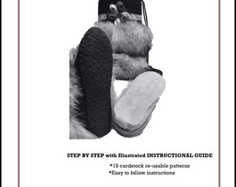 How to Apply a Rubber Crepe or Leather Sole ~step by step instructional guide w/ illistrations
