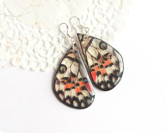Butterfly wing earrings look like real butterfly jewelry for mom gift from daughter Gift sister Tiger earrings for mother day gift for niece
