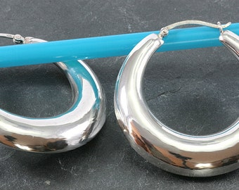 Hoops 925 Sterling silver--Hoops 925 sterling silver--4090