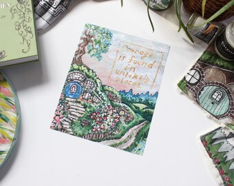 Hobbiton in Spring Art Print