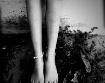 Fine Art Photography Feminine Mystique Photo Legs Young Girl Black & White Archival Print Gift Under 50 Home Decor