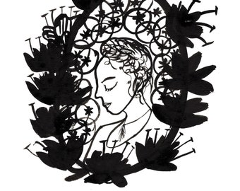 Wild Woman Giclee Print (A4)