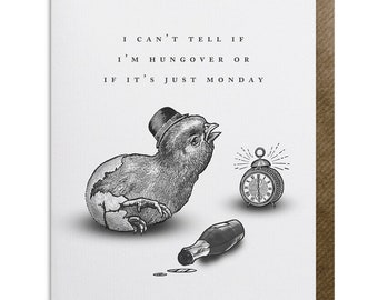 Hangover GREETING CARD