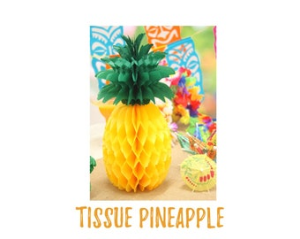 Pineapple Party Decorations. Pineapple Decor. Pineapple Party Supplies. Luau Party Decorations. Luau Party. Tissue Pineapple.