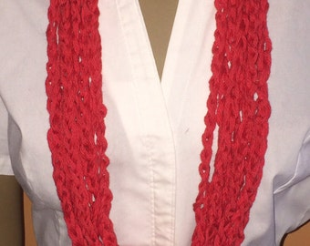 Necklace/scarves/crochet cowl/jewelry/circle scarf/loop cowl/gift for her/accessories/women/handmade