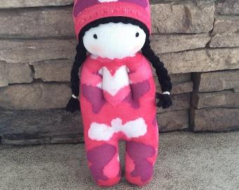 Doll, Soft toy, Plushie, Fabric doll, Baby toy, Stuffed Animal, Sock Animal, Kids gift, Nursery decor