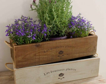 Vintage Style Trough Planter, Rustic Planter, Trough, Window Box Planter,  Window Box