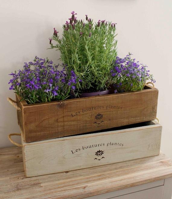 Kitchen Garden Box With Wire Top: Vintage Style Trough Planter Rustic Planter Trough Window