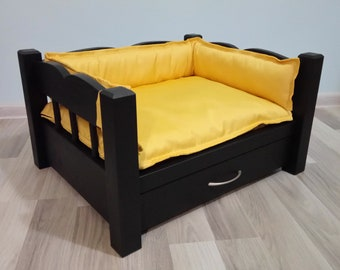 Wooden dog bed, pet bed, raised dog bed, handmade dog bed, small dog bed, bed cat, luxury dog