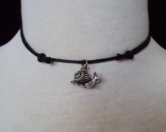 Snail Necklace ~ Snail Choker ~ Mollusk ~ Totem Pendant ~ Animal Jewelry ~ Tribal Necklace ~ Boho Necklace ~ 90s Grunge Style ~ Soft Grunge