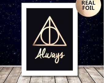 Harry Potter Always Print - Harry Potter Poster - Harry Potter Picture - Harry Potter Quote - Harry Potter Art -  Snape Deathly Hallows