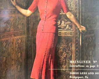 COLUMBIA Volume 112 Hand Knit 1940s Fashions 1948