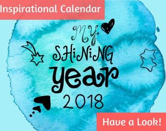 2018 Calendar, 2018 wall calendar, calendar 2018, 2018 monthly calendar, wall calendar, gift for mom, mothers day gift, 2018 calendar wall