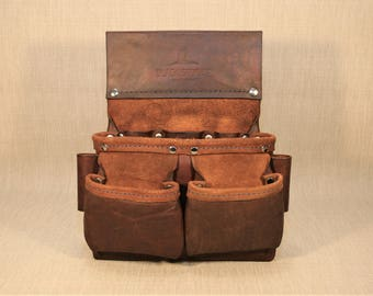 Heavy Duty 6-Pocket Leather Tool Pouch