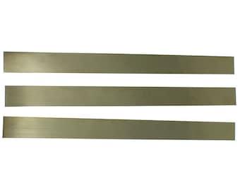"""Red Brass Sheet 18ga 12"""" x 1"""" 1.02mm Thick (Pkg of 3)  (BS18-12X1)"""