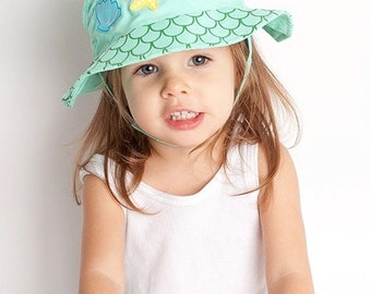 Marietta the Mermaid Sun Hat Beach Hat for Babies and Toddlers