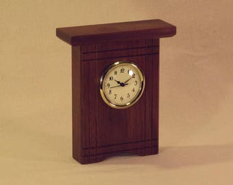 Walnut Desk Clock with Accents