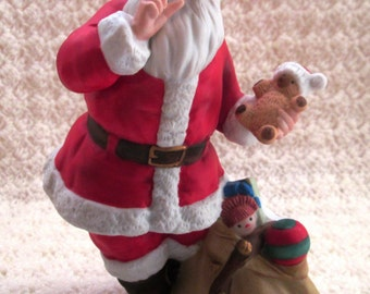 Vintage 1993 Avon Santa, Collectible Porcelain Santa Claus, Hand painted Avon Santa Claus Figurine, Santa Clause Figurines Made by Avon,