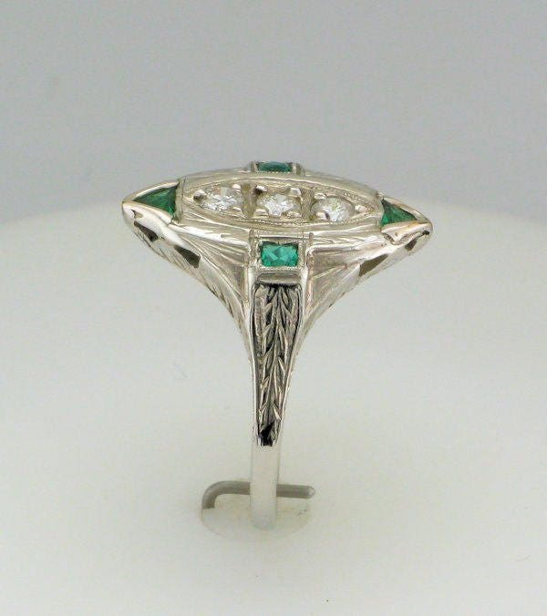 pin with emerald man pretty made inlays coppery very and goldplate