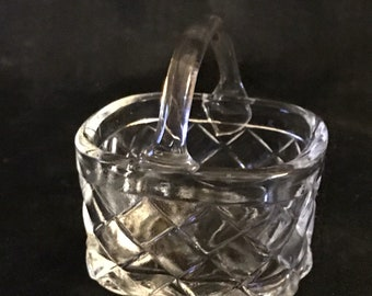 Vintage Basket Glass Easter Basket