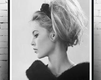 brigitte bardot, Wall Art, Home Decor, Fashion Photography, Gift for her