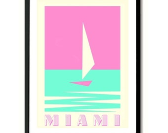 Miami Florida Travel Poster Art Print