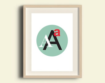 Typography print - instant download printable art, typography poster, digital print,wall decor, Aminimalist poster, Two digital files A4, A3