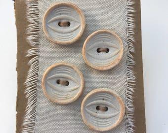 4 Porcelain buttons