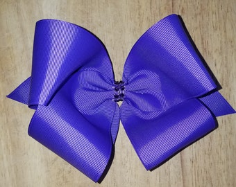 Large Purple Hair Bows
