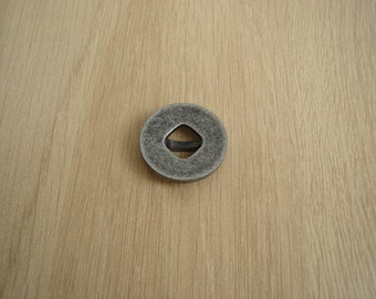 black grey plastic button round and square