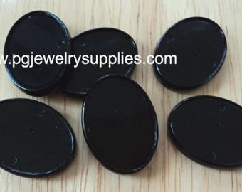 25mm x 18mm channel beads as a bead or setting has holes lengthwise. 6 pcs with this lot