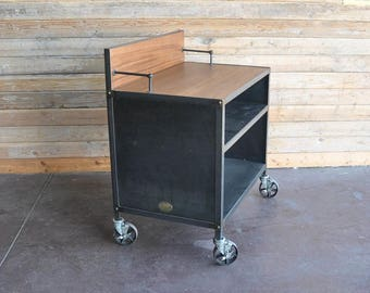 Vintage Industrial Hostess Stand / Restaurant POS Cart / Lecturn / Podium