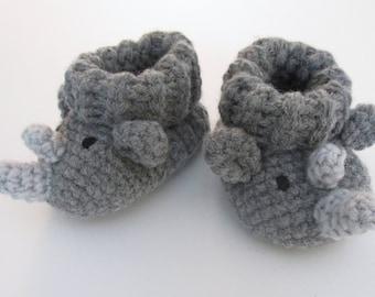 Rhino Booties PDF Crochet Pattern INSTANT DOWNLOAD