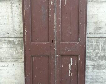 Coppia di porte primi '900 in legno massello con serrature originali - Couple of beautiful Italian doors oak wood hand made from the '20