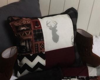 Woodland Patchwork Pillow