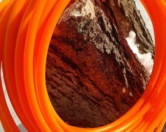 5/8 HDPE UV orange fluorite/hula hoop / collapsible hoop