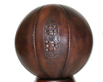 Baloncesto vintage, vintage hechos a mano estilo Mini Baloncesto de cuero / regalo para hombres / baloncesto de cuero vendimia Baloncesto / Baloncesto /
