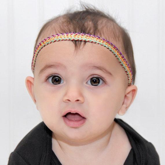 Baby Headband, Birthday Headband, Baby Headbands, Gold Headband, Rainbow Headband, Gold Headband Baby, Headband Toddler, Gold Headpiece