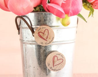 Personalized Wooden Wedding Magnets