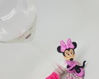 Personalised Classic Disney Minnie Mouse Wine Glass