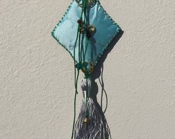 Greek symbols, Talisman, Handmade, Symbols, Egst,  Amulet,  Lucky charm, Ancient Greek, Made in Greece, Light Blue Green