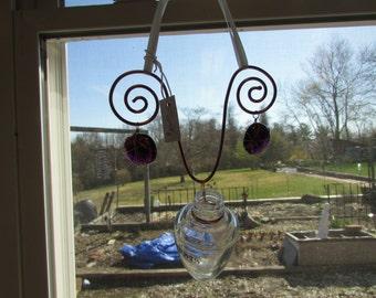 Hanging Bud Vase, Upcycle Hanging Bud Vase