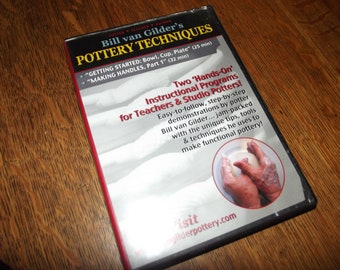 How To DVD:  Bill van Gilder's Pottery Techniques, Pottery Making DVD, Free Shipping DVD, How to Make Pottery, Making Clay