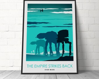 Star Wars Episode 5 The EMPIRE STRIKES BACK Movie Poster, Star Wars Movie Poster, Art Print, Wall Art, Home Decor, Cinema Room Posters