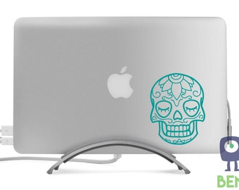 Sugar Skull Tattoo Decal Classic Cool Artistic Style for MacBook, Laptop, Car, or Anything - Many Colors Available