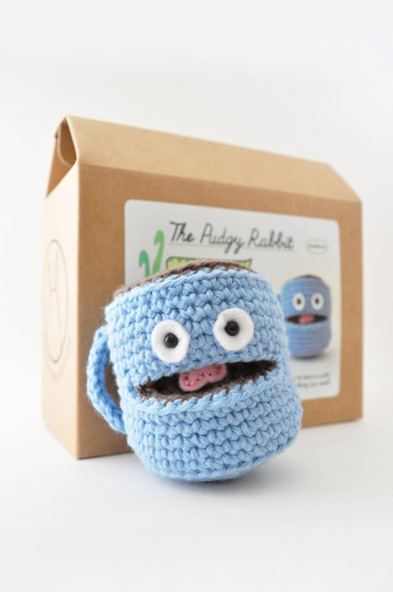 Amigurumi coffee mug kit crochet kit diy craft kit for Coffee mug craft kit